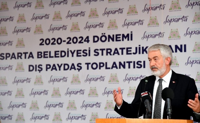 """Isparta Belediyesi'nden """"Ben Başkan Olsam"""" sloganlı Stratejik Plan Dış Paydaş Toplantısı"""