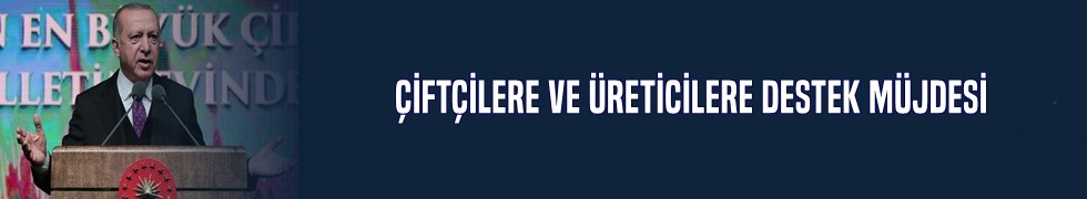 Cumhurbaşkanı Erdoğan'dan çiftçilere ve üreticilere destek müjdesi