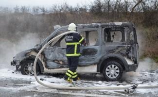 Askeri araçta yangın