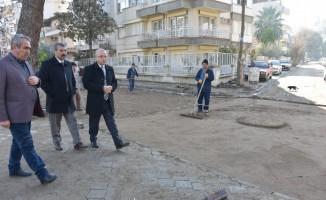 Başkan Kayda, üst Fevzipaşa'daki çalışmaları inceledi