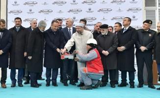 Başkan Tuna cami temel atma töreninde
