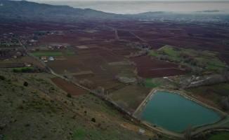 Çetmi Göleti 450 dekarlık araziyi suya kavuşturdu
