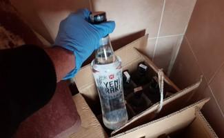 Çorum polisinden kaçak içki operasyonu
