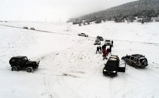 Erzurum'da yeni eğlence 'lastik raftingi'