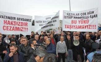 FSM mağdurları TEM otoyolunda bir araya geldi