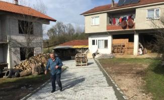 Hasancık köyü parke ile kaplandı