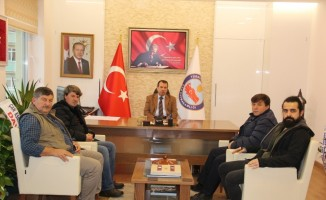 Kaymakam  Gürdal'a gazetecilerden ziyaret