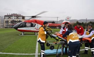 Malatya'da sobadan sızan gazdan zehirlenen çift, hastaneye kaldırıldı