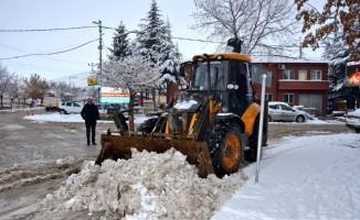 Seyitgazi Belesiyesinden karla mücadele
