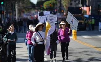ABD Başkanı Donald Trump'ın seçildiği 2017 yılında başlayan Kadın Yürüyüşü 'nün bu sene üçüncüsü gerçekti
