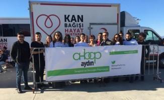 AHBAP Aydın'dan kan ve kök hücre kampanyasına destek
