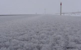 Aksaray'da kar ve dolu yağışı
