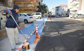 Alanya'da bisiklet yolları tamamlanma aşamasına geldi