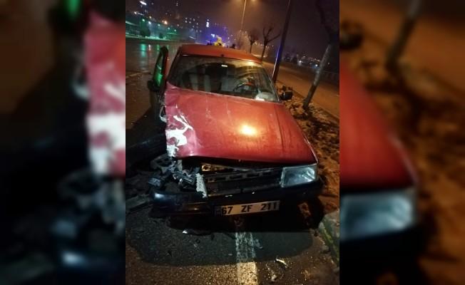 Aniden frene basınca kaza kaçınılmaz oldu: 3 yaralı