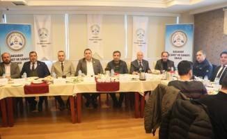 ATSO Başkanı Göktaş gazetecilerle bir araya geldi