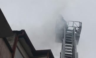 Aydın'daki baca yangını korkuttu
