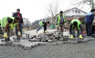 Başiskele'de sokak çalışmaları devam ediyor