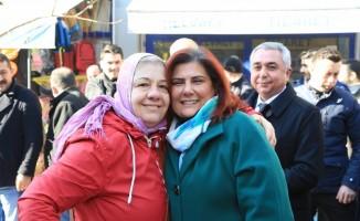 Başkan Çerçioğlu Germencik pazarını ziyaret etti