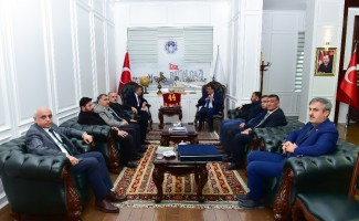 Başkanlar Şire Pazarını görüştü
