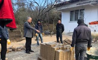 Bayırköy'de yol çalışmaları devam ediyor