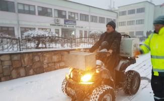 Belediye Başkanı ATV Aracına bindi, kaldırımları solüsyonladı