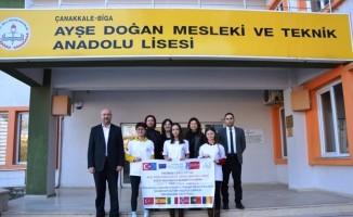 Biga'da Ayşe Doğan proje ekibi Avrupa yolcusu