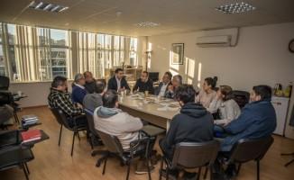CHP adayı Ömer Günel, Mimarlar Odası'nı ziyaret etti