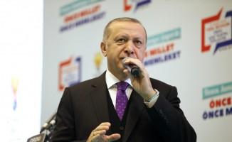"""Cumhurbaşkanı Erdoğan: """"Topraklarımıza göz dikenlerin gözlerini çıkaracağız"""""""