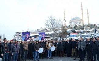 Darende Başkan adayı Özkan'a coşkulu karşılama
