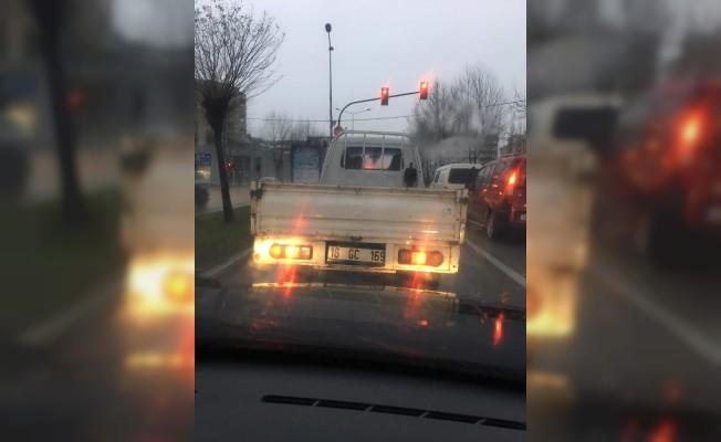 Drift yapan kamyonet sürücüsüne ağır ceza