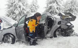 Eskişehir'de trafik kazası, 1 ölü (1)