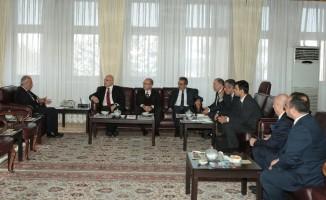 Halkbank Genel Müdürü Osman Arslan'dan Rektör Çomaklı'ya ziyaret