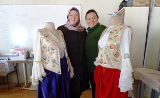 Hisarcık'ta açılan Nakış Kursu ilgi görüyor