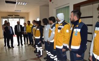 İl Sağlık Müdürü Doç. Dr. Benli Özverili Çalışmalarından Dolayı 112 Ekiplerine Teşekkür Etti