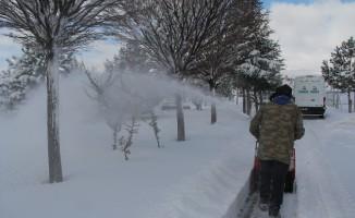 İncesu'da kar mesaisi devam ediyor