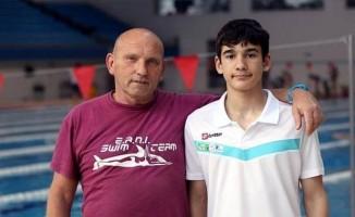 Kayseri'nin rekortmen yüzücüsü Yiğit Aslan ve Antrenörü Corrado milli takım kampına gidiyor