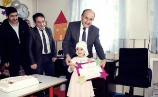 Kırka'da minik Kur'an kursu öğrencilerinin karne sevinci