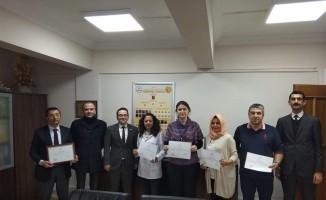 Kızılay'dan okula teşekkür belgesi