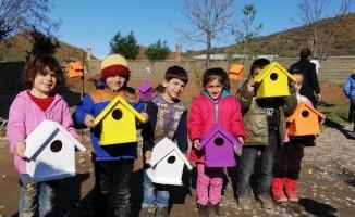 Köy öğrencilerden 'Kuş Evi' projesi