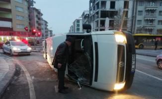 Malatya'da minibüsler çarpıştı: 2 yaralı