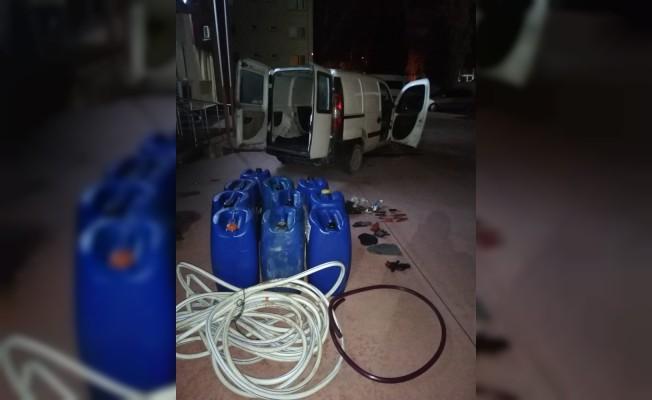 Manisa'da mazot hırsızları yakalandı