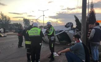 Manisa'da trafik kazası: 4'ü çocuk 9 yaralı