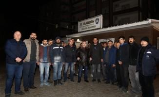 Mardin Valisi Yaman, karla mücadele çalışmalarını yerinde inceledi