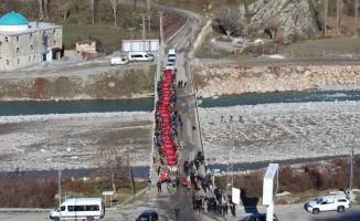 Mereto Dağı eteklerinde Sarıkamış şehitleri anma programı düzenlendi