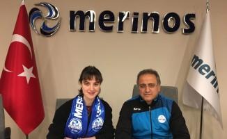 Merinosspor'un son transferi Pelin Beydüz ilk antrenmanına çıktı