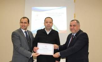 Proje eğitimine katılan personele törenle sertifikaları verildi