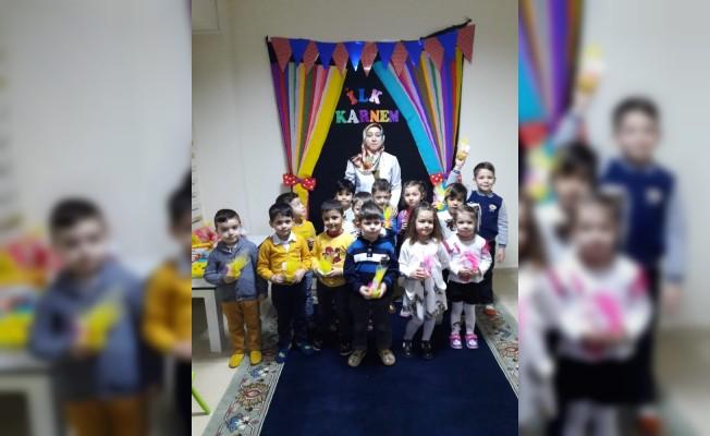 Şehit Serdar Kur'an kursunda karne heyecanı