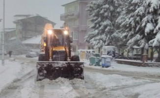 Simav'da kar temizleme çalışmaları