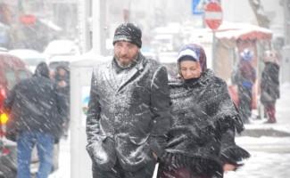 Tokat'ta yoğun kar yağışı