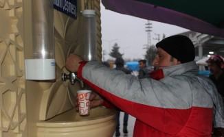 Turhal Belediyesinden soğuk havalarda sıcacık ikram